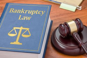 Law book with a gavel - Bankruptcy law