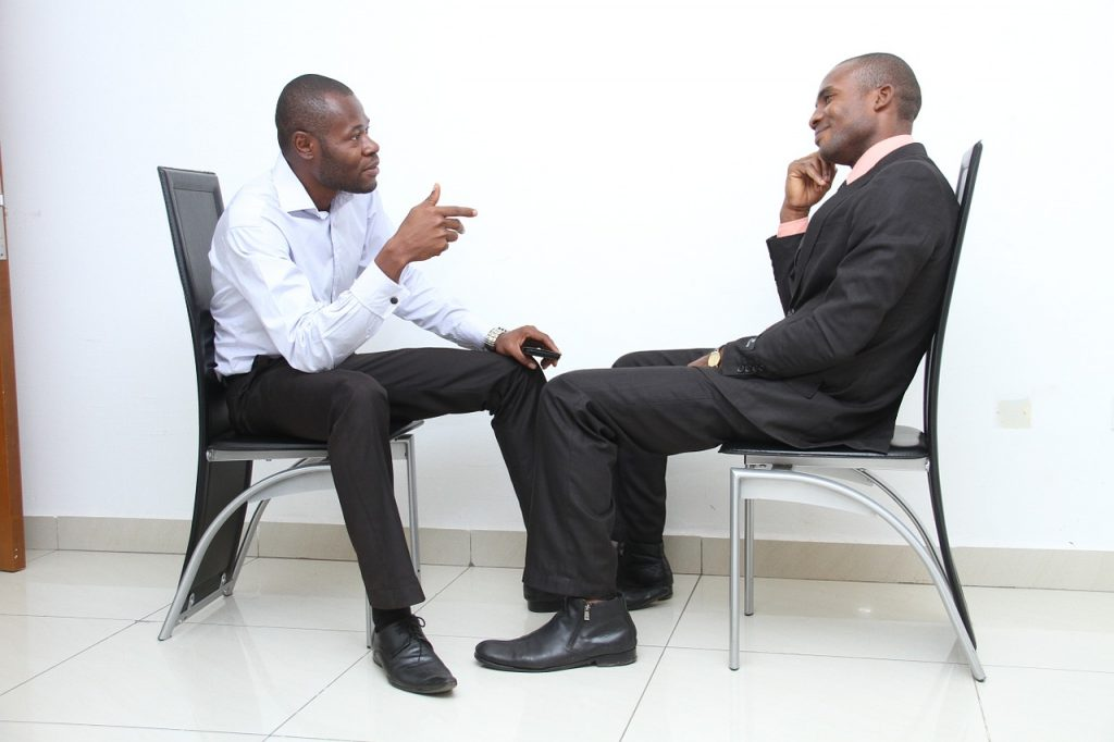 A candidate interviews after bankruptcy