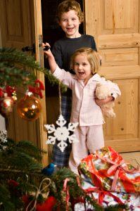 girl on christmas morning