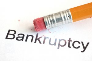 the word bankruptcy erased